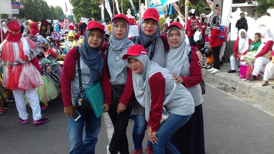 Peserta  karnaval gebyar PAUD Kota Cirebon Tahun 2018