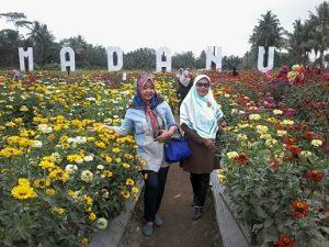 Mengunjungin Taman Bunga Ramadanu