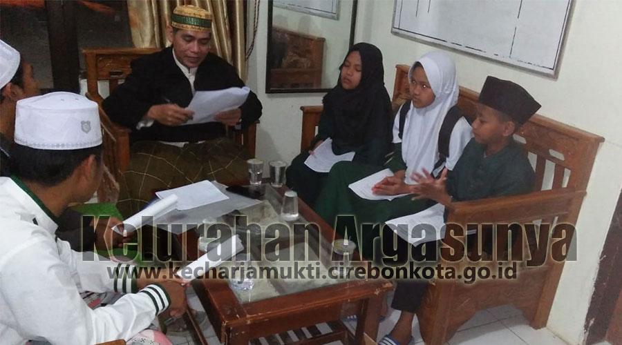 Pembinaan Putra-Putri Terbaik Argasunya Guna Hadapi MTQ Tingkat Kecamatan Harjamukti