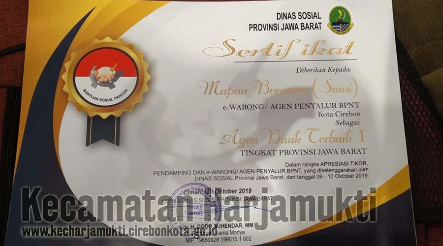 Sertifikat Penghargaan Agen Terbaik