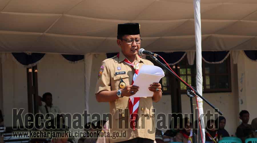 Camat Harjamukti Menjadi Inspektur Upacara Lomba Tingkat II Kwartir Ranting Harjamukti