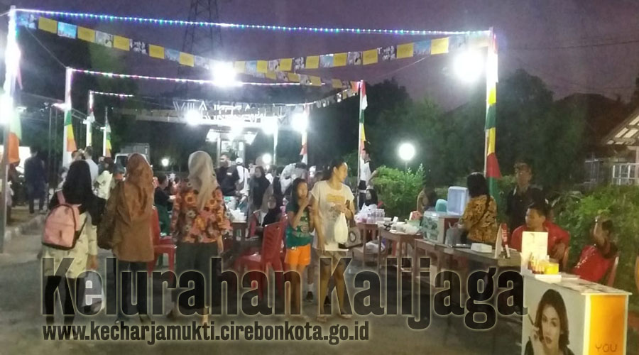 Bazar Kuliner Di Villa Kecapi Mas RW. 001 Katiasa Baru Kelurahan Kalijaga Kota Cirebon