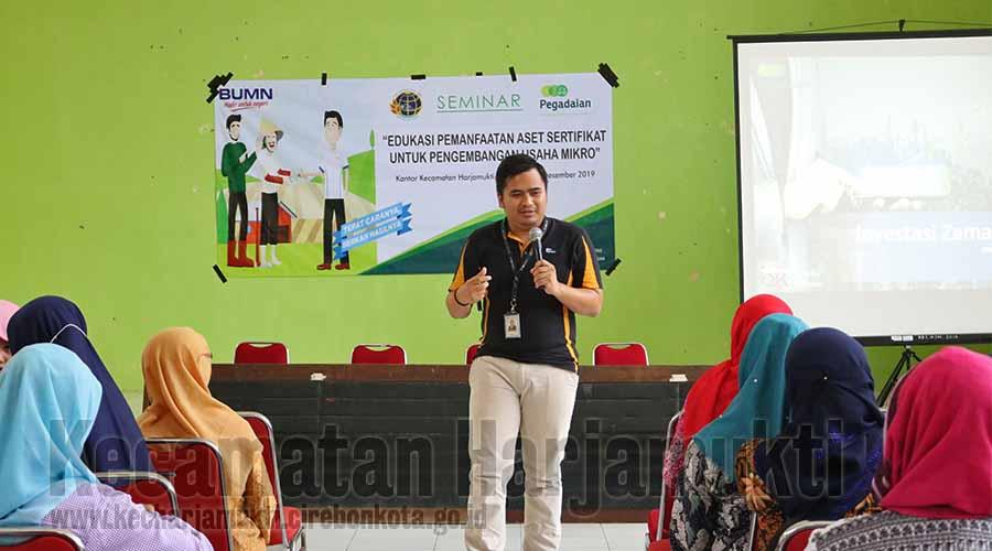 Trianto memberikan materi Edukasi kepada masyarakat